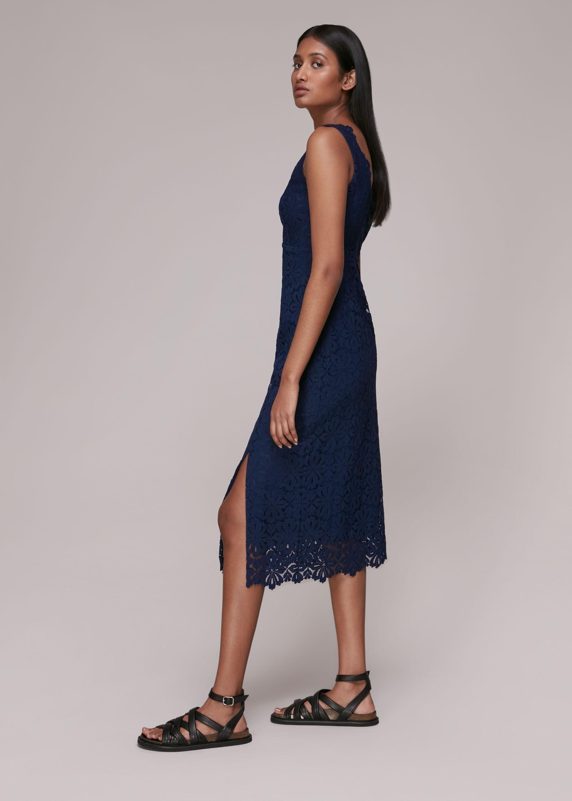 Whistles Women Nova Lace Midi Dress
