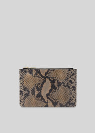 Snake Small Clutch Black/Multi