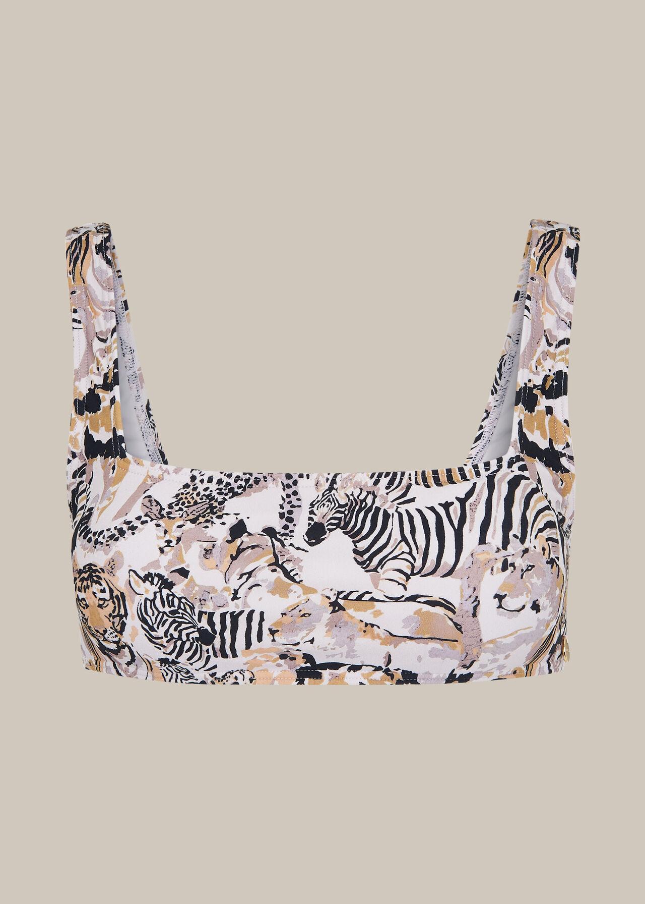 Safari Print Bikini Top