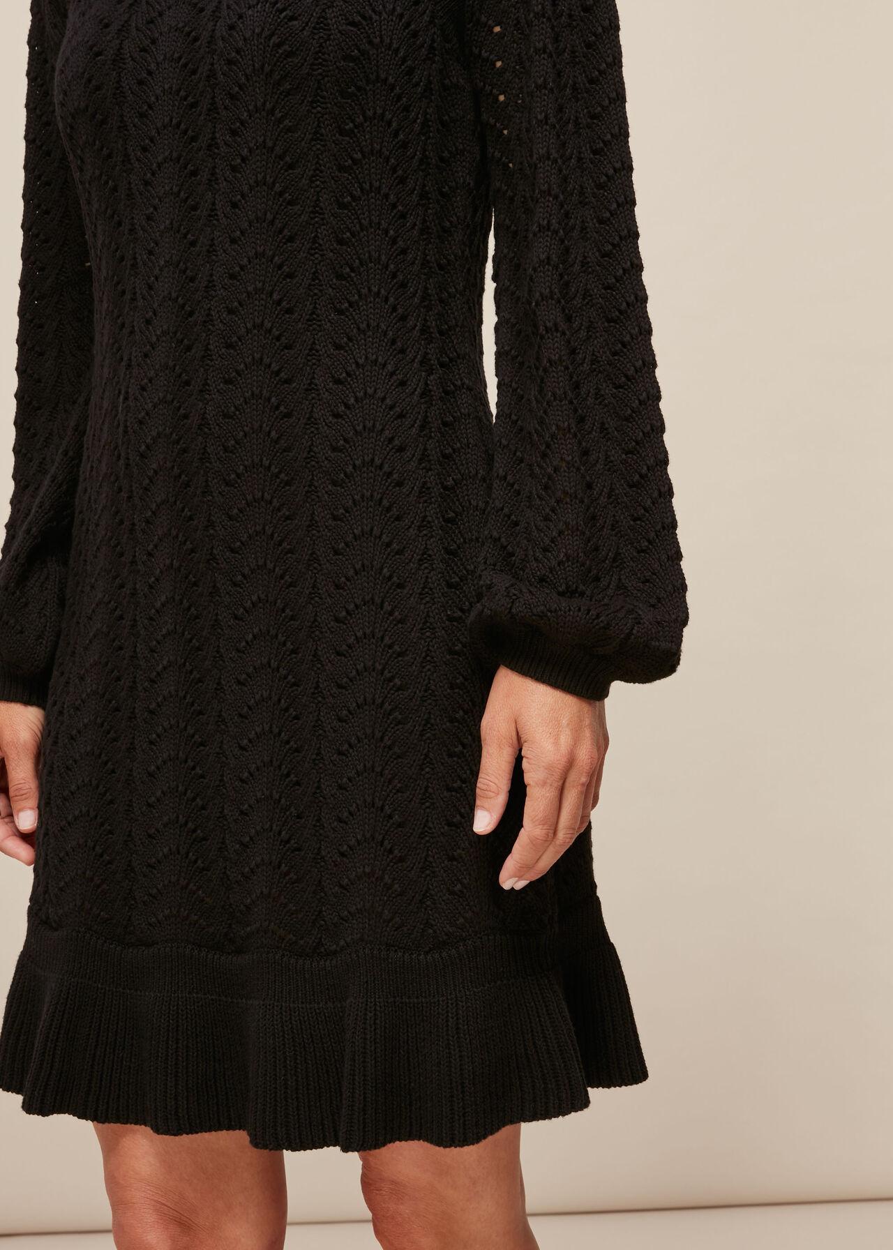 Pointelle Crochet Flippy Dress
