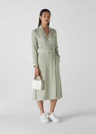Stripe Wrap Shirt Dress Multicolour