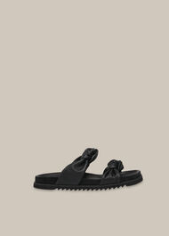 Amira Soft Knotted Slider Black