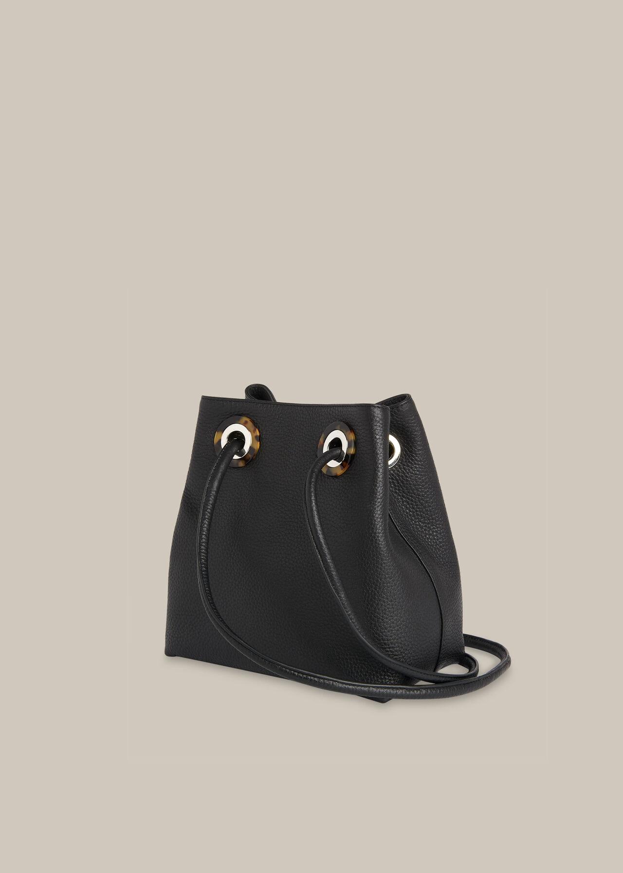 Mabel Tort Eyelet Bag Black