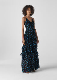Milla Daisy Maxi Dress Black/Multi