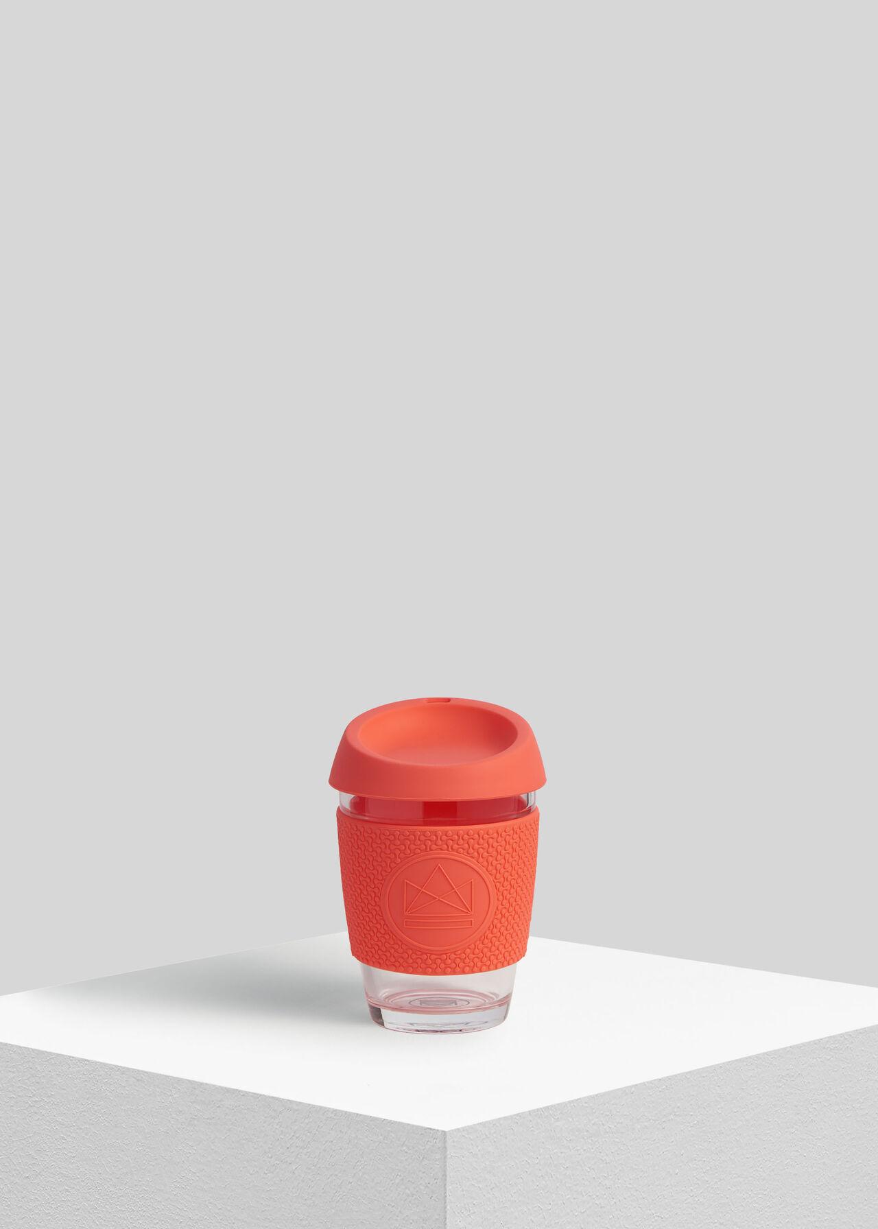 Neon Kactus Reusable Glass Cup Coral/Multi