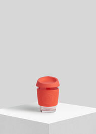 Neon Kactus Reusable Glass Cup Coral/Multi