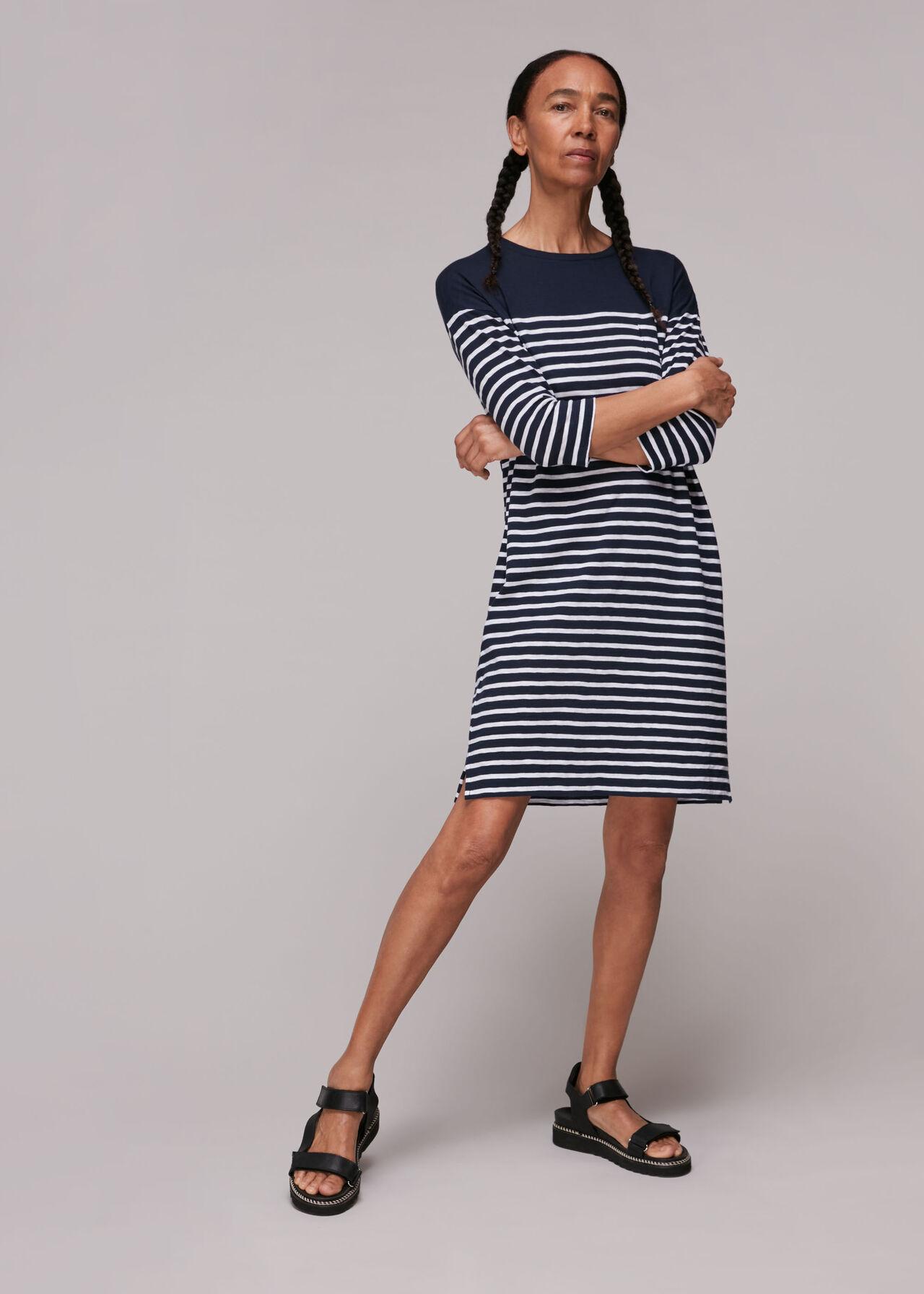 Breton Stripe Pocket Dress