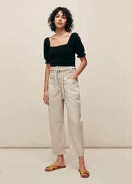 Square Neck Frill Knit