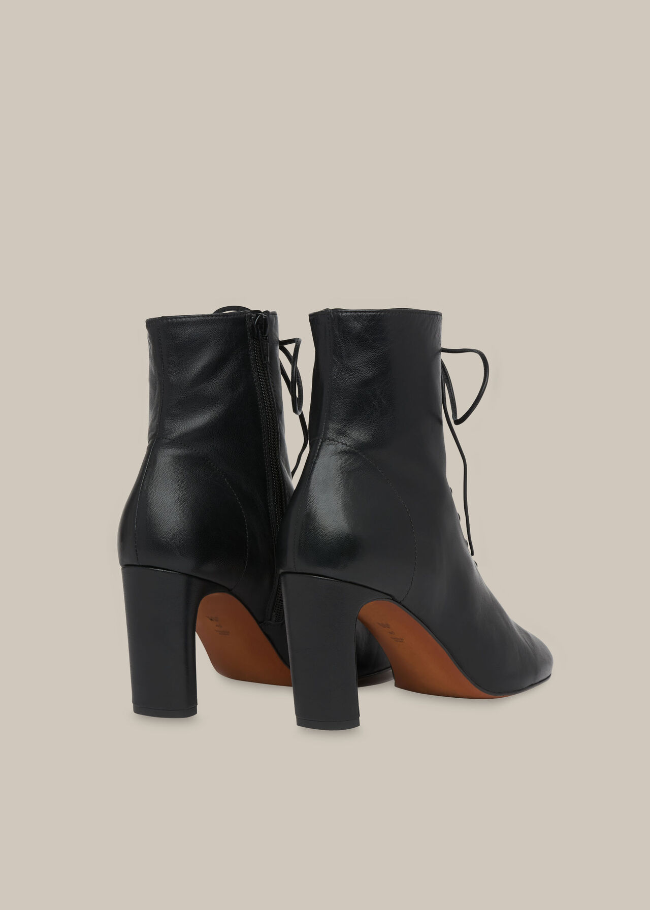 Dahlia Lace Up Boot Black