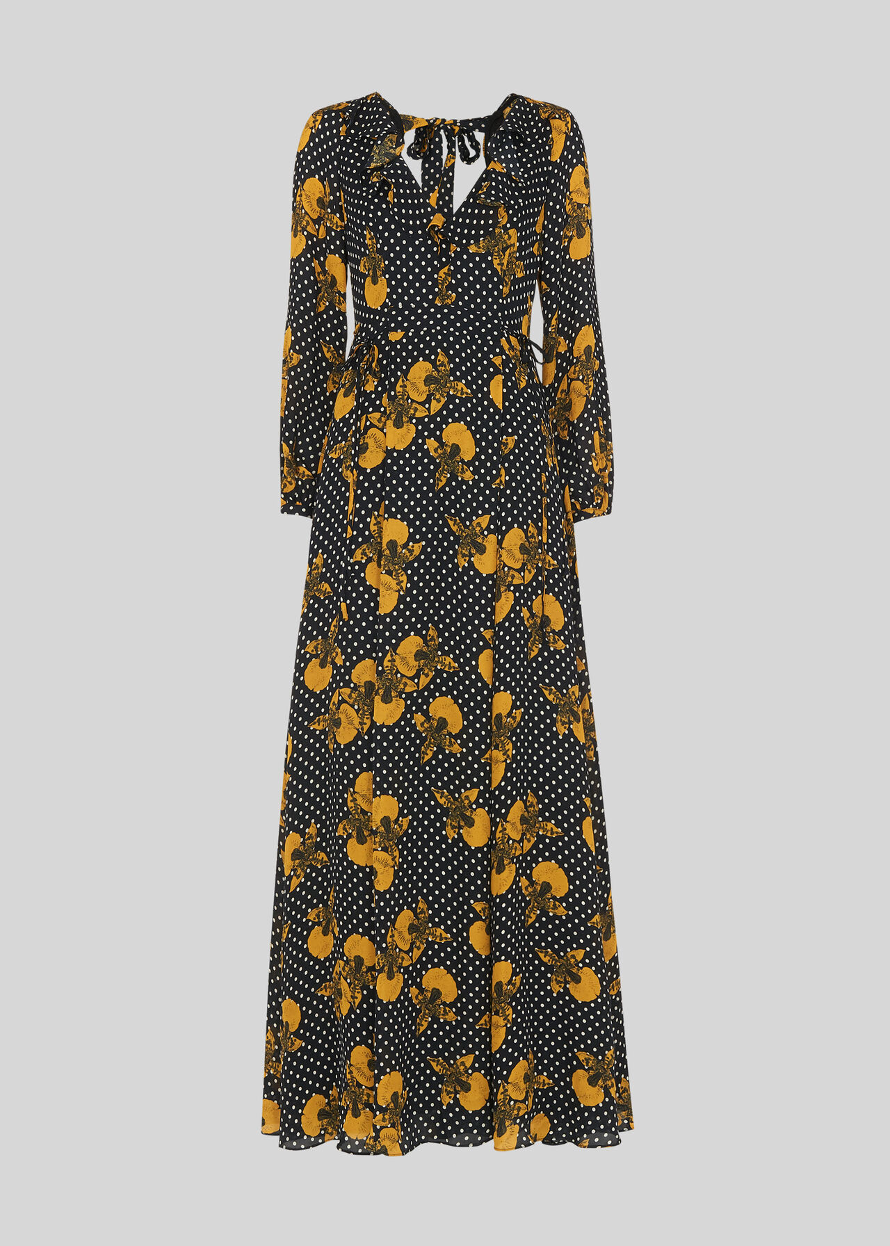 Kira Spot Floral Maxi Dress Yellow/Multi