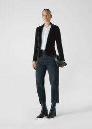 Corduroy Jersey Jacket Black