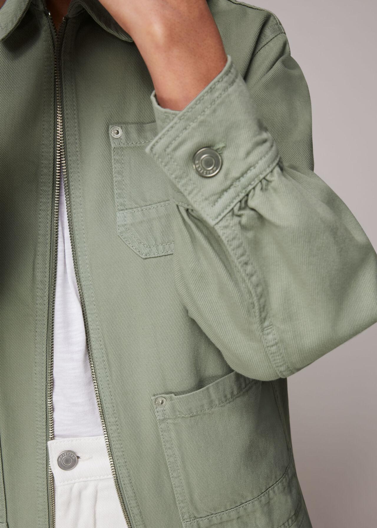 Zip Front Cargo Jacket