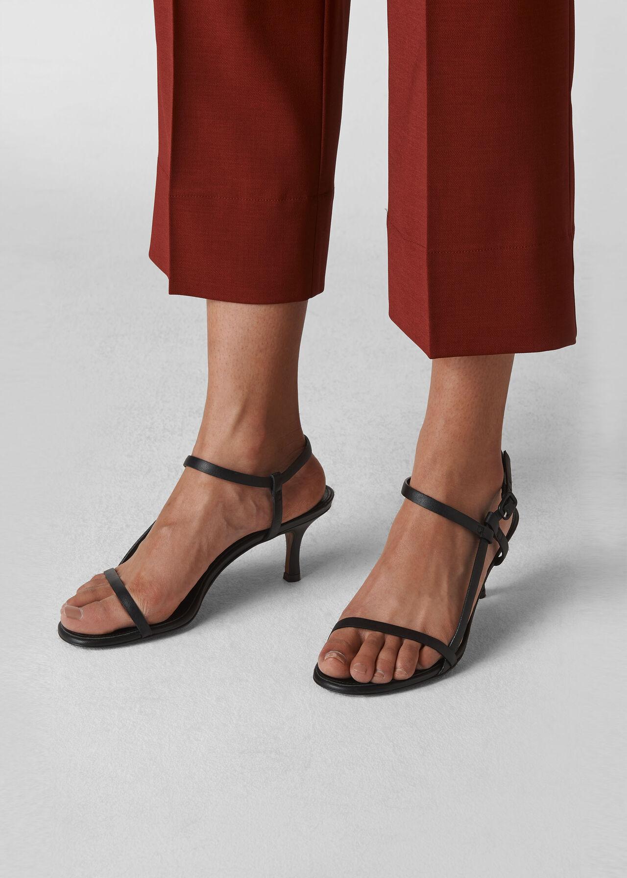 Milana Asymmetric Sandal Black