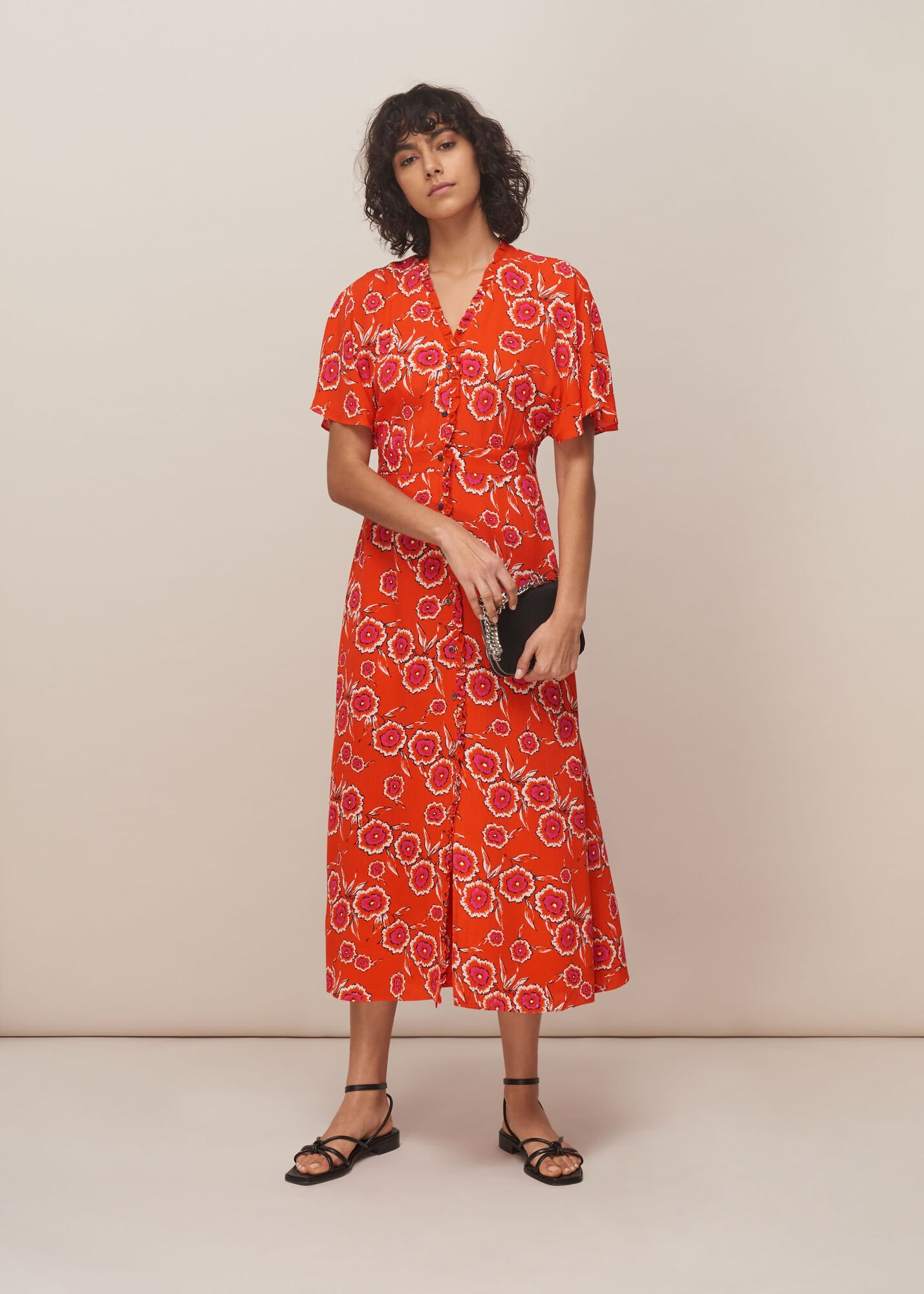 Ella Diagonal Floral Dress