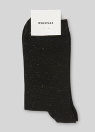 Sparkle Knit Socks Black