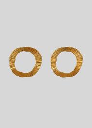 Textured Irregular Earring Gold/Multi