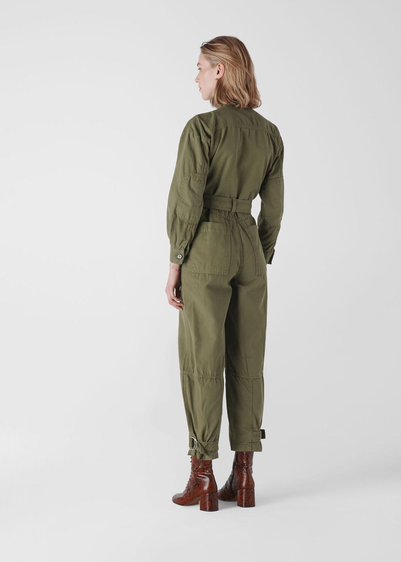 Julianna Utility Jumpsuit Khaki