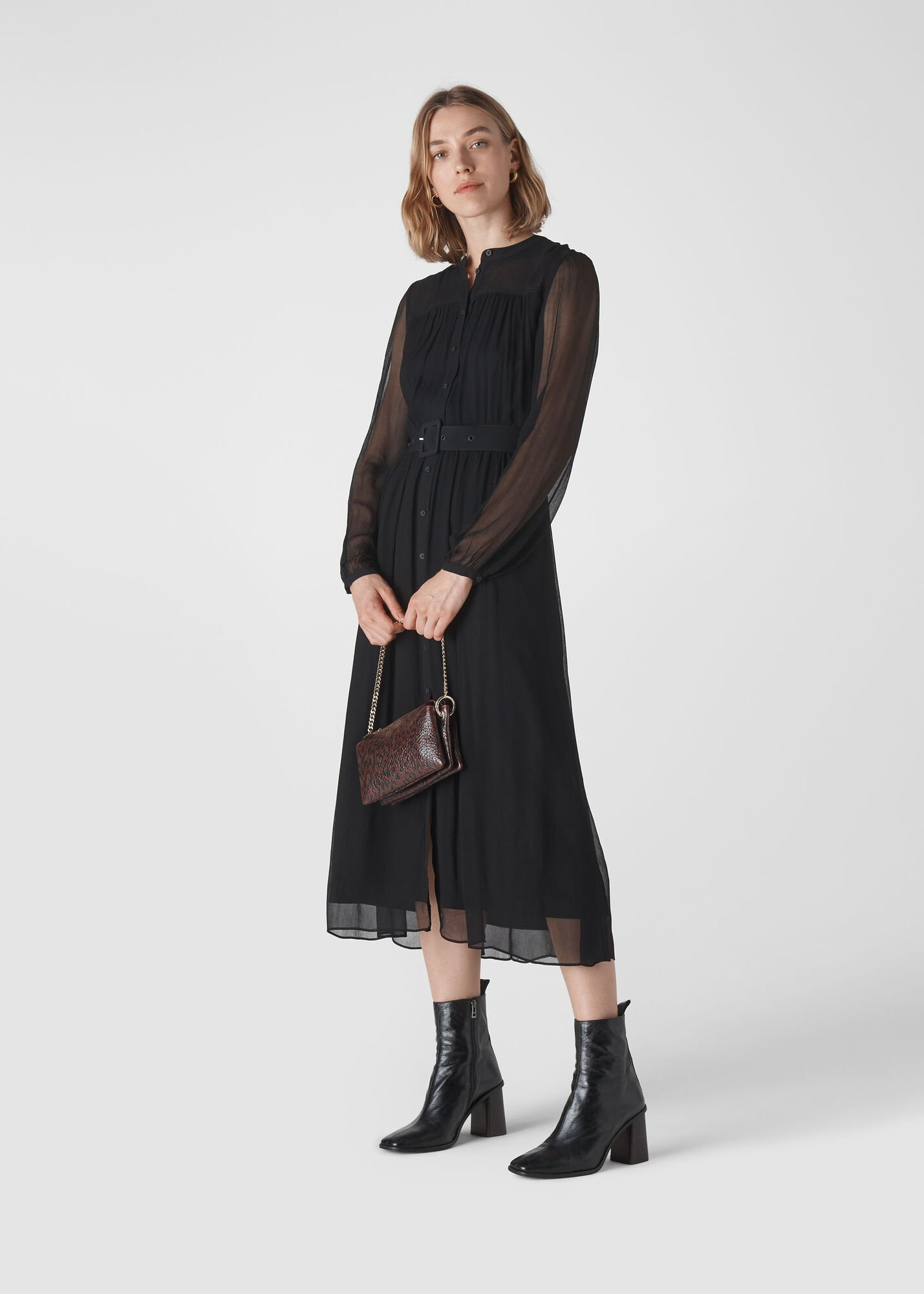 Bethany Belted Midi Dress