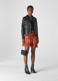 Ikat Animal Flippy Skirt Multicolour