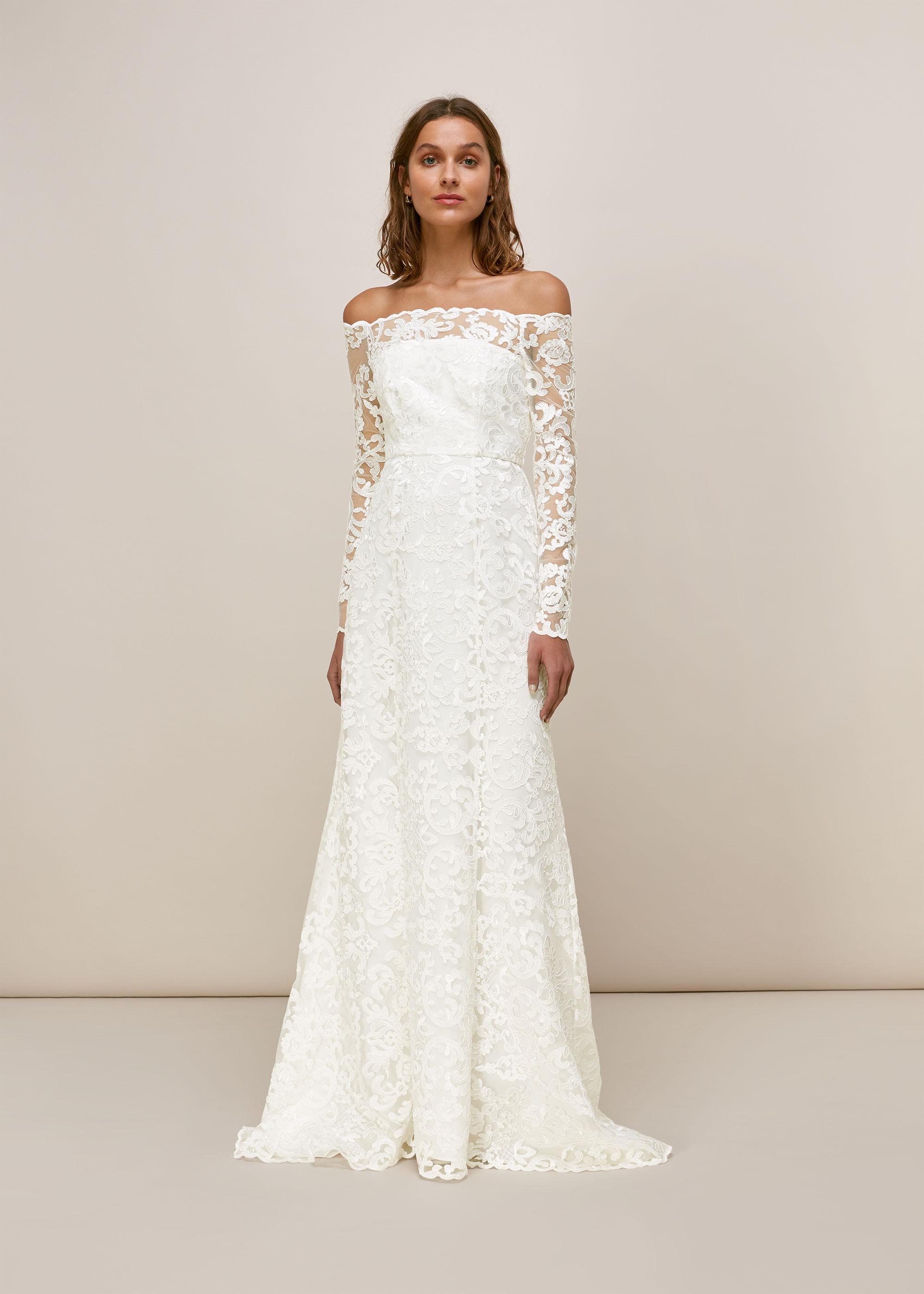 Whistles Women Melba Bardot Wedding Dress