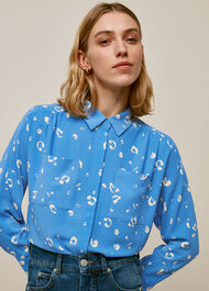 Watercolour Animal Blouse Blue/Multi