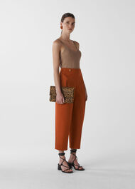 Alicia Deep Pleat Trouser Rust