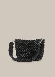 Martha Beaded Bucket Bag