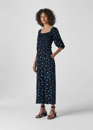 Scattered Daisy Klara Jumpsuit Black/Multi