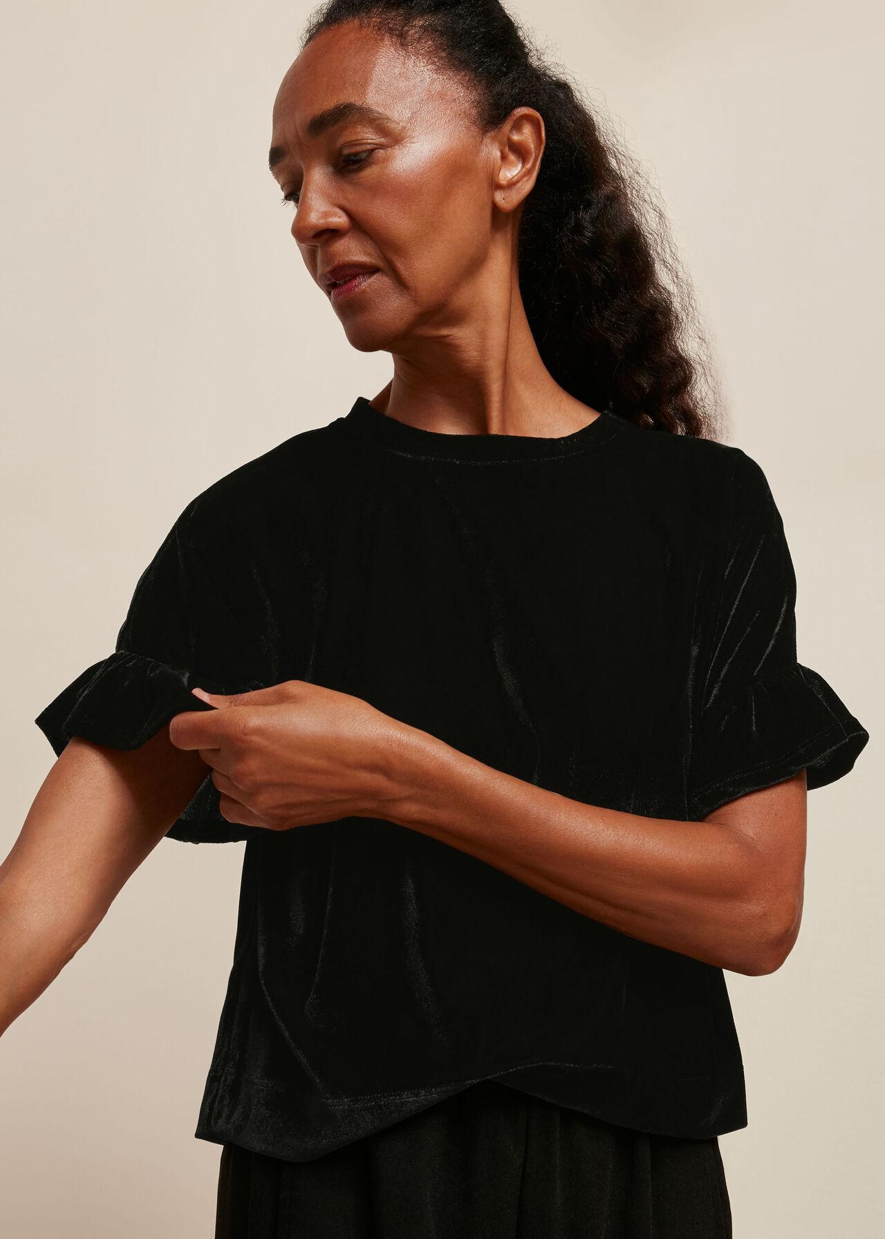 Velvet Frill T-Shirt
