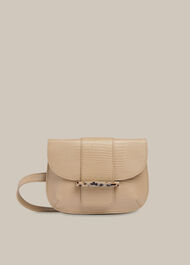 Mari Lizard Belt Bag Taupe