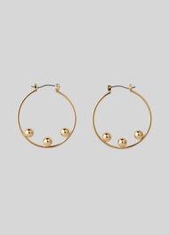 Triple Sphere Hoop Earring Gold