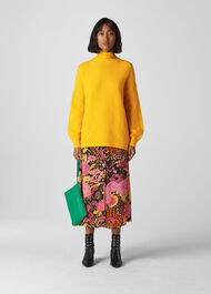 Oversized Funnel Neck Knit Yellow