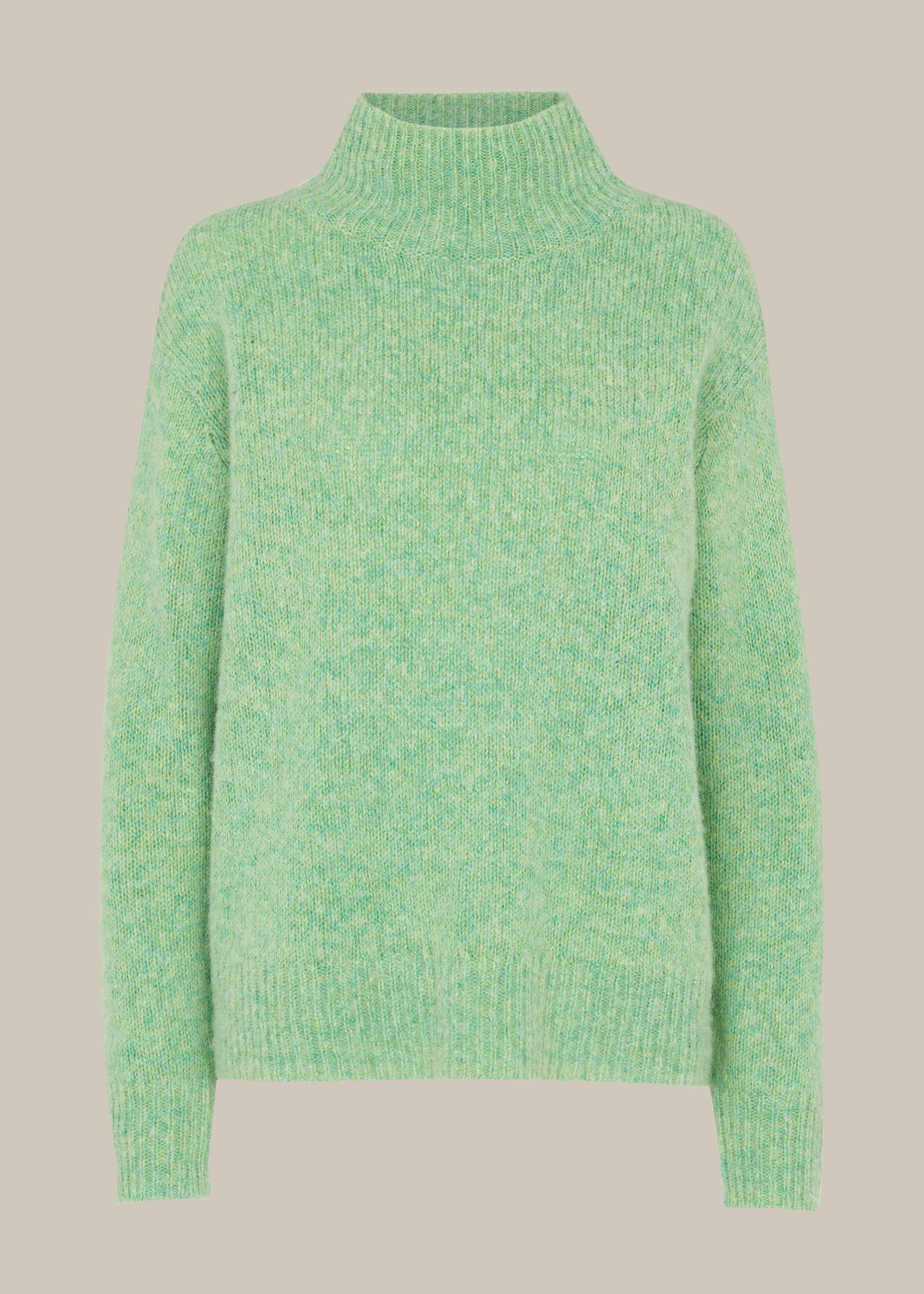 Erica Flecked Funnel Neck Knit