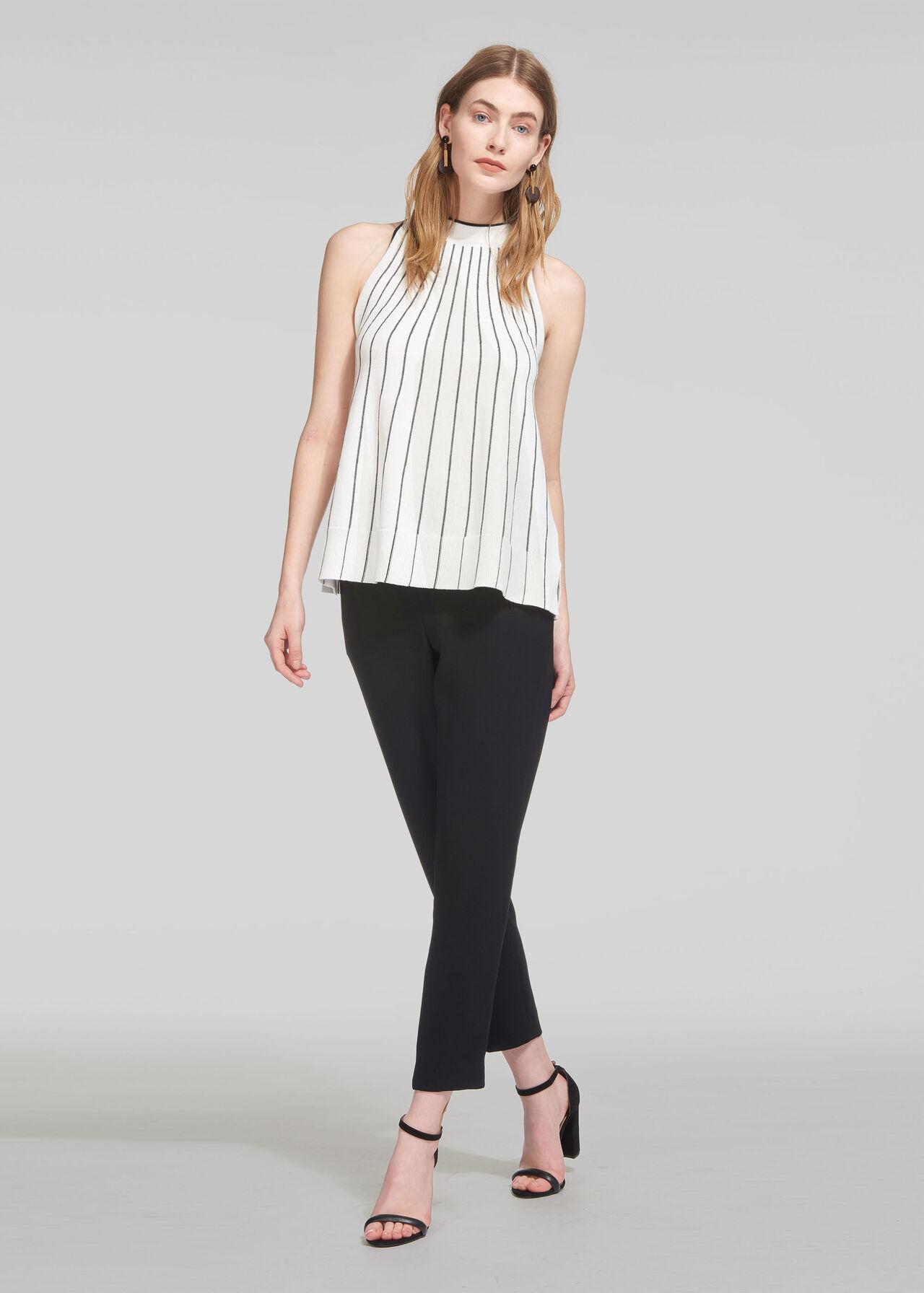 Stripe Trapeze Knit Vest