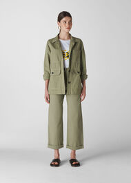 Utility Casual Jacket Pale Green