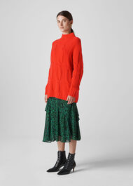 Cashmere Cable Knit Red