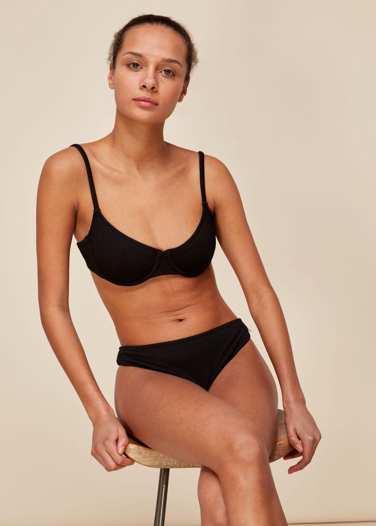Ribbed Underwire Bikini Top