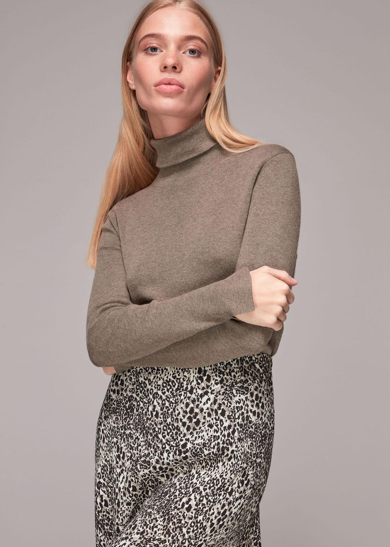 Micro Animal Bias Cut Skirt