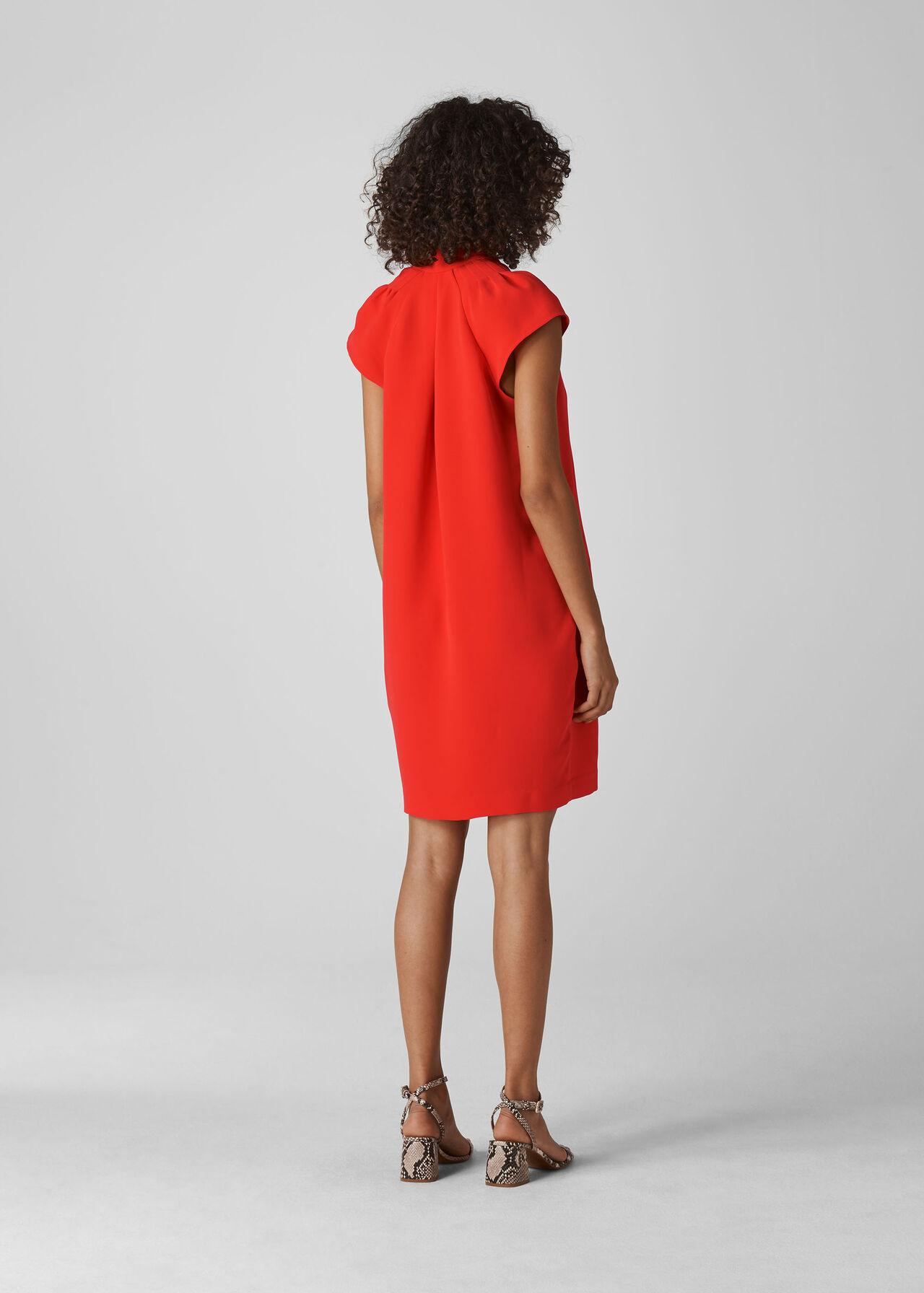 Sabina V Neck Dress Flame