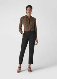Anna Elasticated Waist Trouser Black