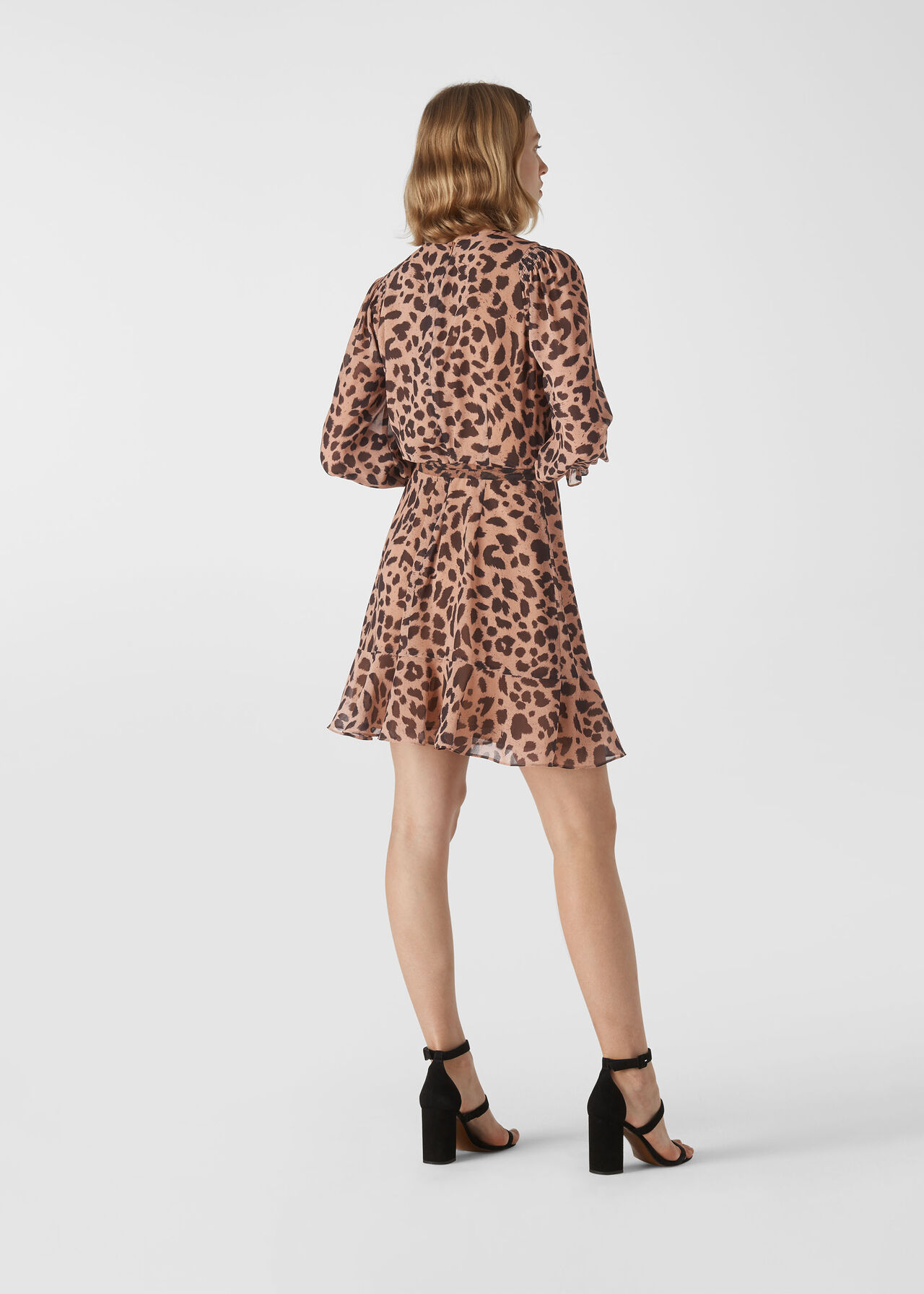 Brushed Cheetah Flippy Dress Leopard Print