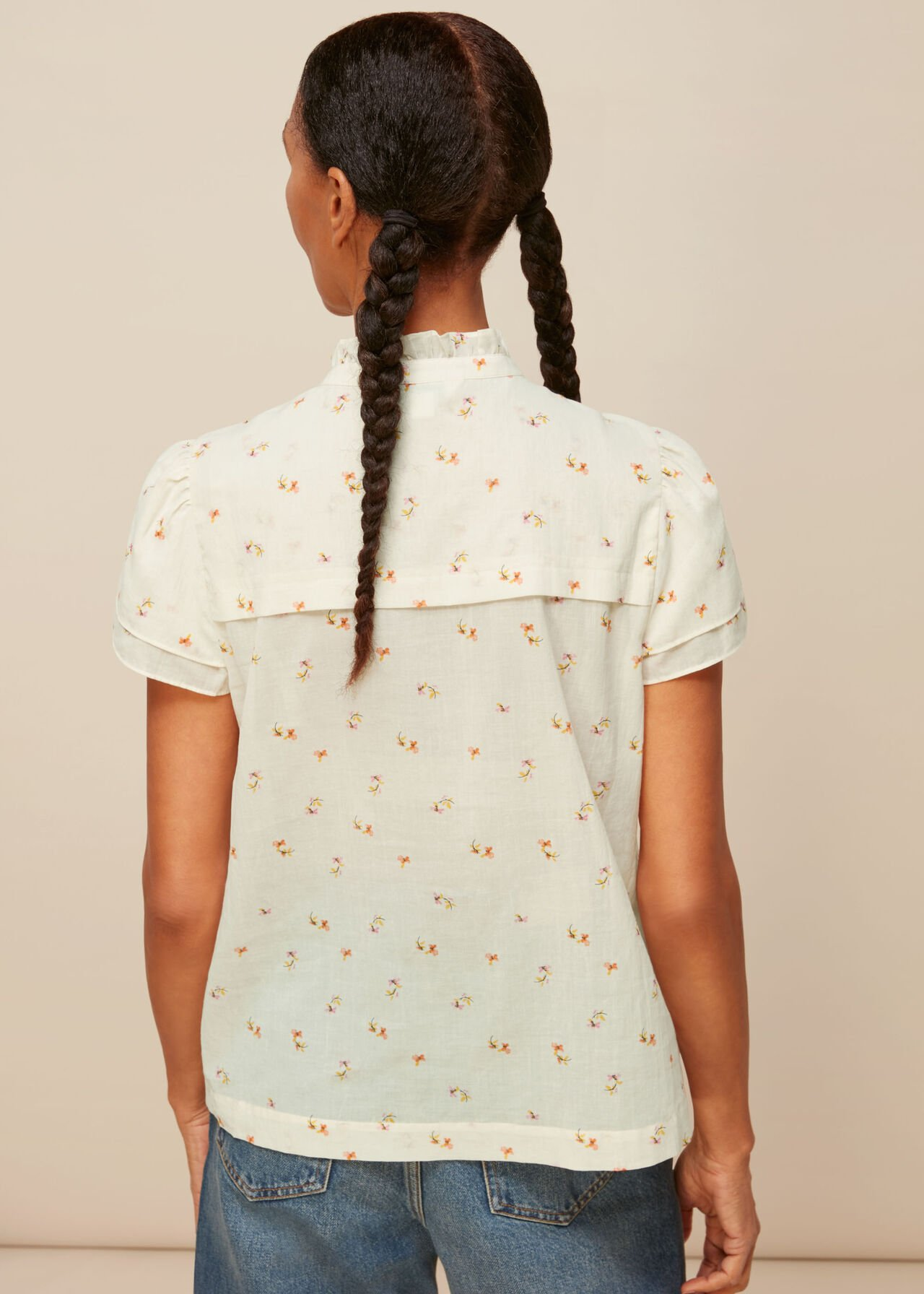 Forget Me Not Voile Blouse Cream/Multi
