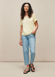 Relaxed Linen TShirt Lemon