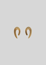 Textured Curve Earring Gold/Multi