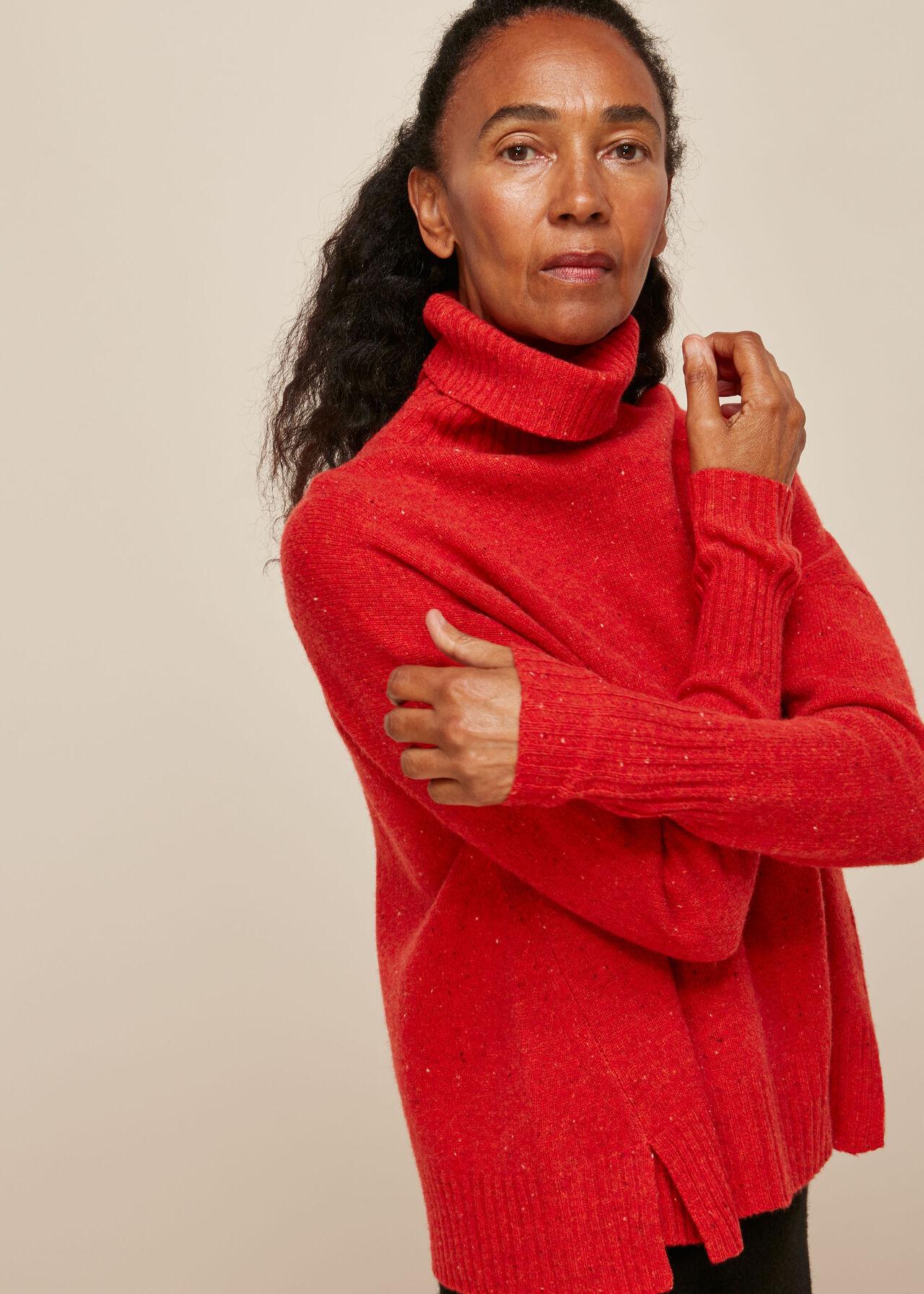 Roll Neck Merino Wool Knit