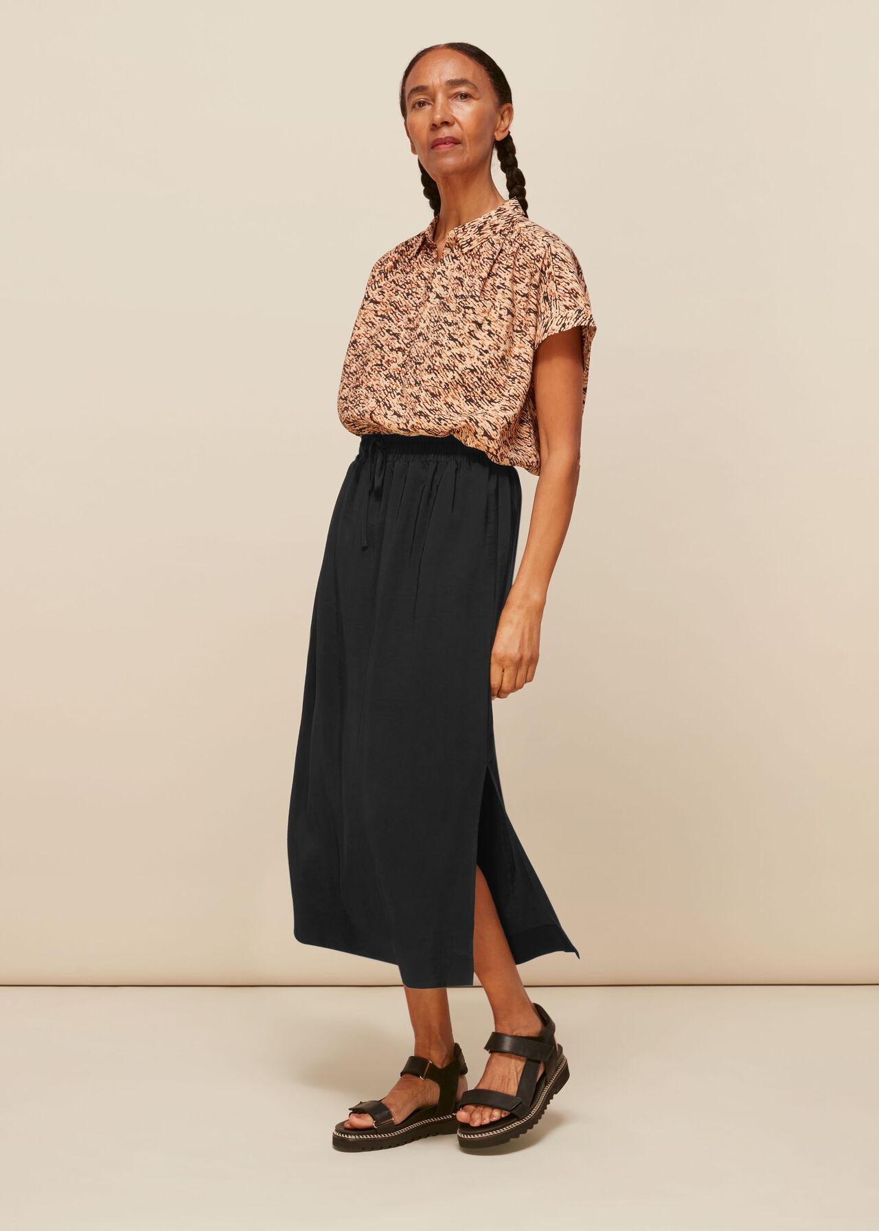 Sporty Drawstring Casual Skirt
