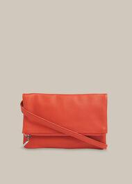 Issy Mini Foldover Bag Coral