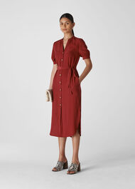 Dana Shirt Dress Burgundy