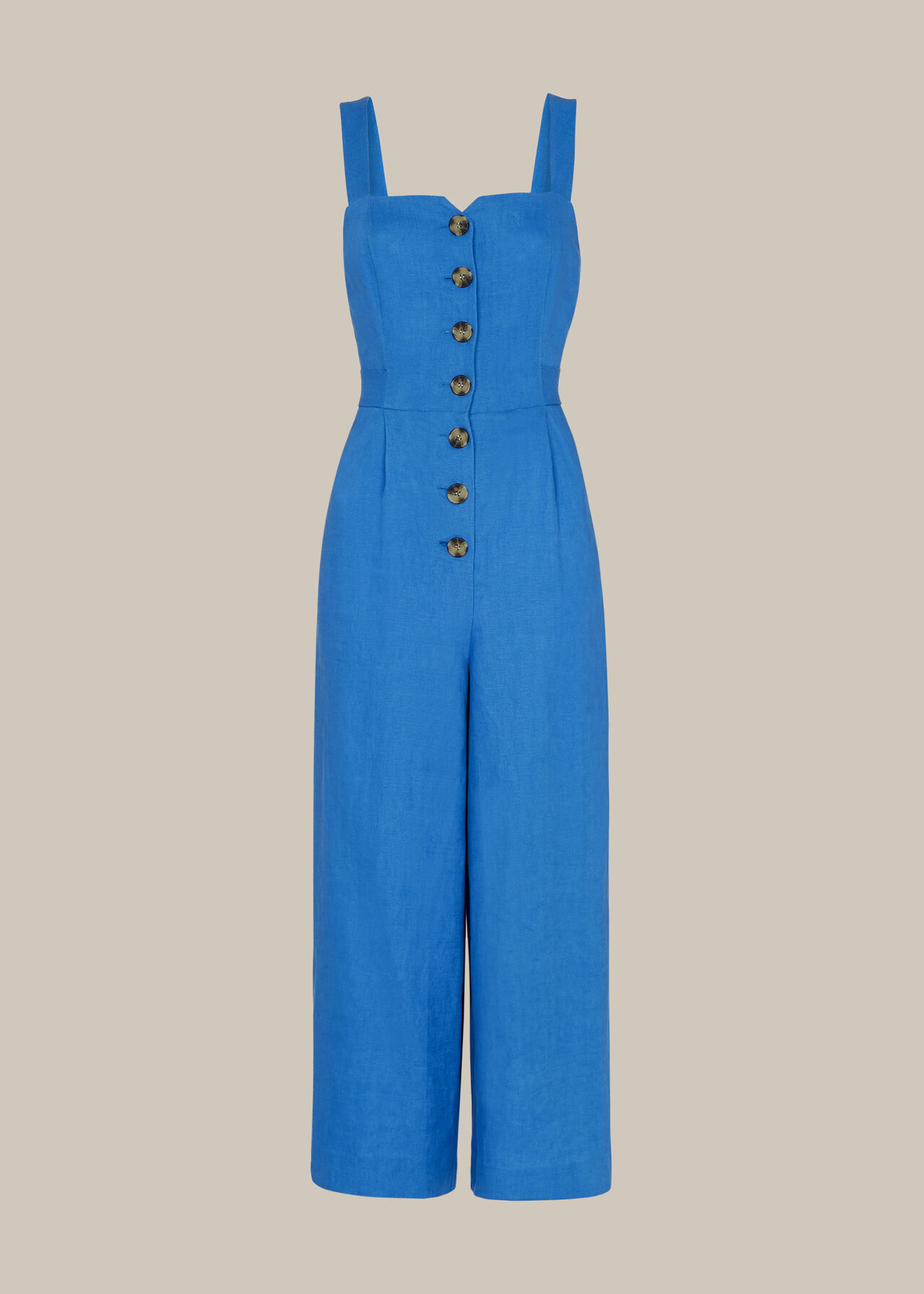 Hadley Linen Jumpsuit Blue