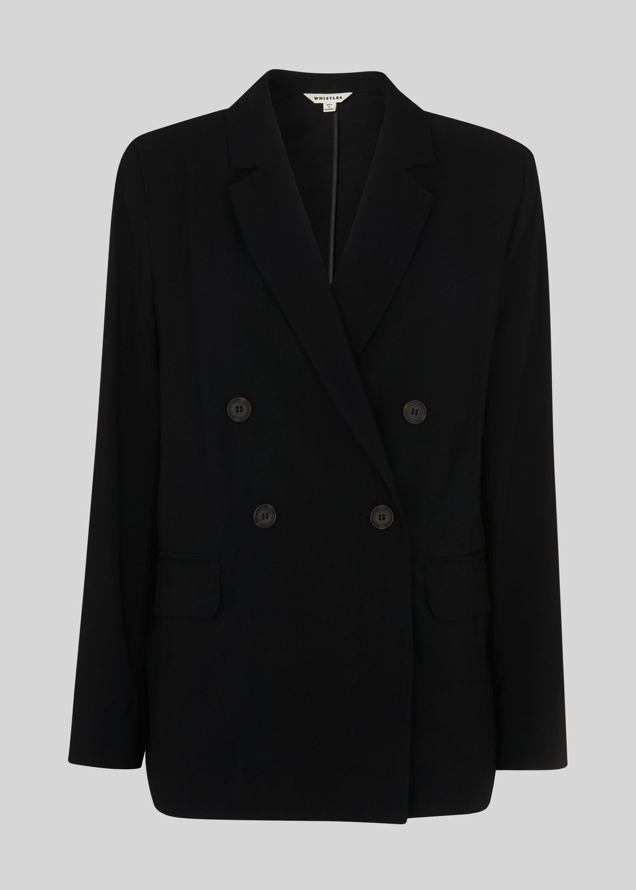 Double Breasted Relax Blazer Black